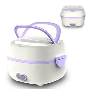 FreeShipping Mini Rice Cooker Portable Food Heating Steamer Heat Preservation Lunch Box Multifunctional Electric Lunch Box EU Plug US plug