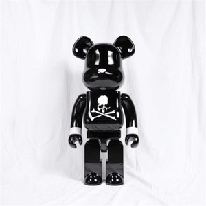 Best-Selling 1000% 70CM Bearbrick Evade glue Skull White Black bear figures Toy For Collectors Be@rbrick Art Work model decorations gift
