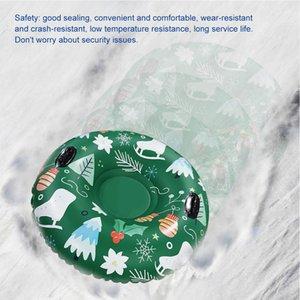 Nflatetable Ski Cercle Ski Cercle Snow Jouet Snow Hiver Iwith Handin Durable Enfants Adulte Tube Snow Tube Ski Épaisies Slabed Flotaté Slabed Q0111
