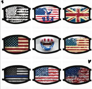 50pc America Flag Masks Black Face Mouth Protective Mask Star stripe pattern Designer cotton cloth Masks