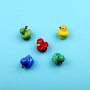 Маленькая желтая утка Cap Banger Kawaii мультфильм купол милые карб для стеклянных водных труб 4 цвета