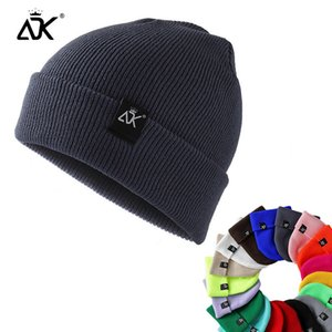 Unisex Knitted ADK Tags Cap Woman Beaines For Winter Breathable Men Gorras Simple Hats Warm Solid Casual Lady Beanies