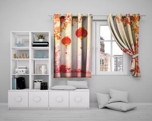 Personalizzato 3d Paesaggio Cortina all'ingrosso 3d sipario finestra Bella Paesaggio trattamento tende Home Decor Curtain