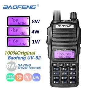 BAOFENG UV-82 WALKIE TALKIE TALKIE DUAL BAND DUAL P8W VHFUHF DUE WAY Radio BAOFENG UV 82 CB Radio Station Portatile UV82 Transceiver1