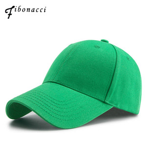 Fibonacci Hohe Qualität Marke Grüne Baseballmütze Baumwolle Klassische Männer Frauen Hut Snapback Golf Caps J1225