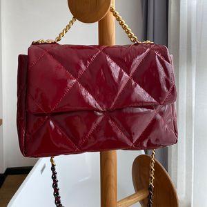 Bright Surface Crossbody Bag Calfskin Leather Flap Handbag Purse bicolor Chain Shoulder Bag Women Girls Body Pouch Wallet High Quality