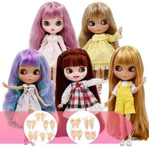 Ледяная фабрика Blyth Doll Chood Body Diy Nude BJD игрушки для игрушек моды кукол девушка подарок новое специальное предложение в продаже с ручной набор AB 201031