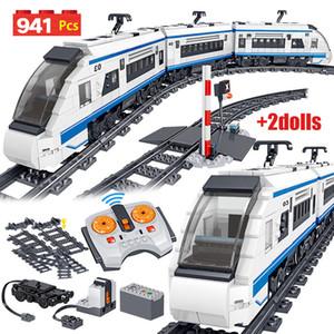 941pcs City Electric Harmony высокоскоростных железных дорог дистанционного управления Building Blocks Поезд Track RC Technic автомобиля кирпича Игрушка для мальчика C1115