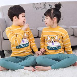 in New children's thickened winter pajamas 2020
