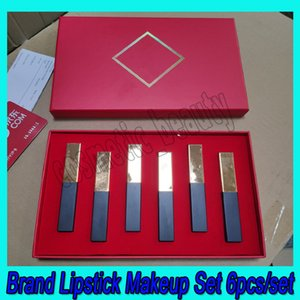 Set de maquillage de marque 6pcs 6pcs / Set Classic Mat Lipstick Cadeaux de Noël Ensemble 6 en 1 DHL Expédition rapide