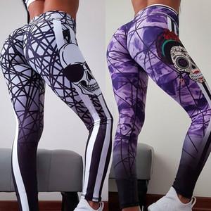Women's Pants Hot Slim Slim Hip Print Yoga Pants Leather Pants Women's Clothing