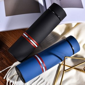 Business Double Stainless Steel Thermos Water Bottle Vacuum Flask Thermos Mug Men and Women Outdoor Portable Sport Water Bottle 201126