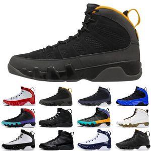 Fashion satinjordanretro 9 9s jumpman air baskteballshoes racer blue countdown pack mens trainers sports sneakers size 7-13