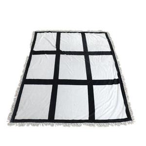 Sublimation Blank Blanket Thermal Transfer Printing Blankets Panels Panels Blanket 9 15 20 Grids Heart Moon Blankets LLA259