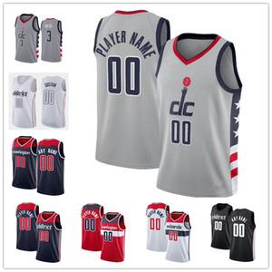 Personalizado Bradley Bradley 3 Beal Davis 42 Bertans Rui 8 Hachimura Russell 4 Westbrook 9 Deni Avdija John 2 Wall Lopez City Basketball Jerseys