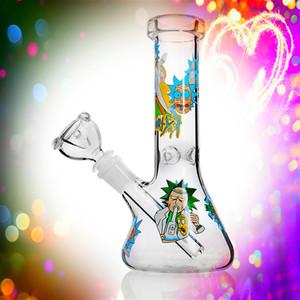 """7.8""""beaker Bongs Oil Dabber Rigs Inline Percolator Water Pipe Oil Rig Pipe Pocker Small Bong with 14mm Flower Bowl Downstem"""