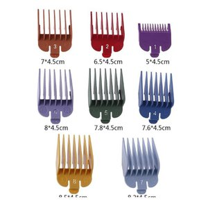 8pcs Universal Hair Clipper Limit Comb Guide Attachment Size Barber Replacement Hair Styling Tool Acc wmtGnq