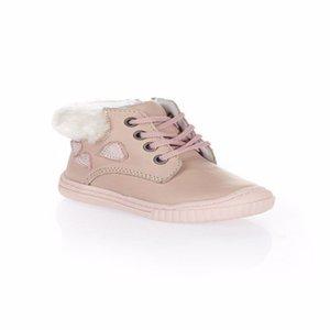 MyWondry Hakiki Deri Kürklü Kalp Pembe Bebek Kız İlk Adım Çizmeler W1217