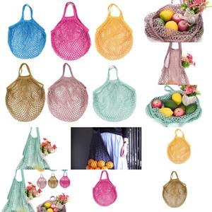 Net String Shopping Baskets Tote Woven Bag Reusable Fruit Vegetables Storage Handbag Mesh Bags 6 NAS5P