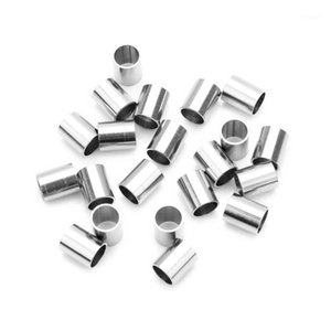Fostfo 20pcs lot 6mmX7.5mm Stainless Steel Cylindrical Beads 5mm Big Hole Loose Beads For Jewelry Making Accessories Supplies1