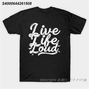 Hombres camiseta Live Life Loud! Lets Rock n Roll Rock n Roll regalo camiseta Mujeres camiseta 40101310