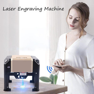 3000mw CNC Laser Engraver DIY Logo Mark Printer Cutter Laser Engraving Machine Woodworking 80x80mm Engraving Range 3W Mini