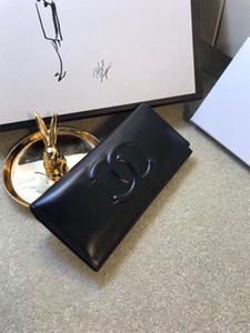 bolsa de diseñadores recién llegados luxurys CC en relieve el bolso de mano de cuero de las señoras del embrague de negocios informal color sólido cartera