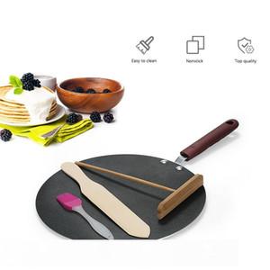 Алюминиевый сплав блинов сковородок Crepe Maker плоская сковорода сковорода с разбрасывателем Spatula Crepe Maker Griddle Cookle Tool CJ191227