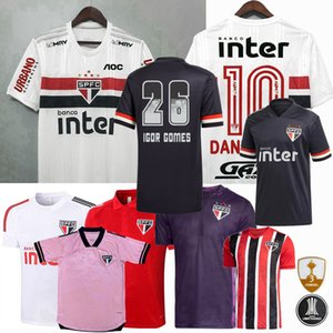 20 21 ساو باولو FC لكرة القدم جيرسي ساو بابل بابلو بابلو باتو هيلينهو داني ألفيس 2020 2021 كرة القدم الرجال والنساء قميص أطفال