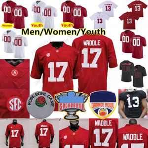 Personalizado 2021 Alabama Jersey Jersey Najee Harris Smith Jaylen Waddle Namath Mac Jones Trey Sanders Metchie III Bryce Young Surtain II Juventude