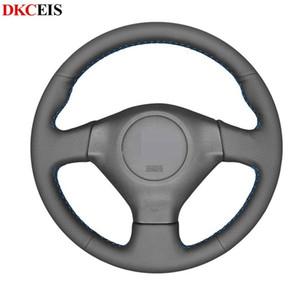 Preto suave Artificial Steering Car Couro cobertura de volante para Impreza 2005-2007 Impreza WRX (WRX STI) Forester 2005-2008