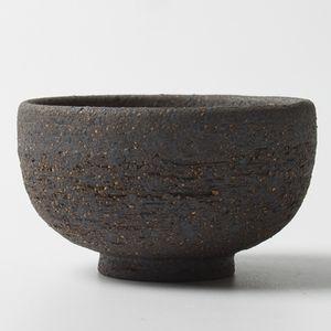 Vintage Coarse Pottery Tea Cup Japanese Handmade Black Rough Teacup Small Purple Sand Ceramic Tea Bowl