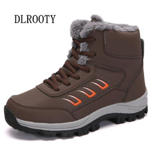 Women Snow Boots Ankle 2020 Winter Warm Outdoor Plush Female Casual Shoes Woman Flat Fashion Platform Lace Up Waterproof