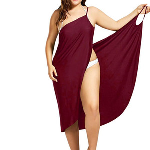 2019 Summer Dresses Plus Size 3xl Pareo Beach Cover Up Wrap Dress Bikini Swimsuit Bathing Suit Cover Ups Robe Beach Women Dress1