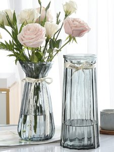 FYT02 Glass vase transparent water raise rich bamboo living room flower arrangement dried flower Nordic household extra large