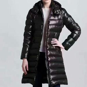 Damen Daunenjacke Parkas Mode Damenwinterjacke Pelz-Mantel Doudoune Femme Schwarz Winter Mantel-Oberbekleidung mit Kapuze