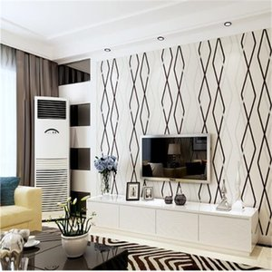 papel pintado Wallpaper 3D living room wallpapers bedroom non - woven stripes modern minimalist film and television