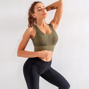 요가 복장 여성 패딩 스포츠 브래지어 높은 영향 체육관 최고의 스포츠 피트니스 자르기 섹시한 운동 브래지어 활성 착용