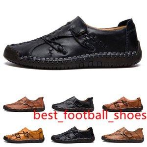 новый ручной прострочкой мужские ботинки ступили Англия горох обувь кожаная мужская обувь низкой большой размер 38-48 шесть