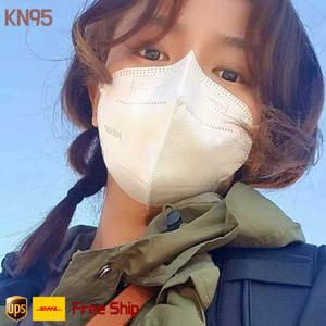 5 couche KN95 masque facial certificat doux tissu non tissé anti-brouillard Anti Spit respirante Masques visage 95% PM2,5 sécurité Hommes Femmes jetables Fac