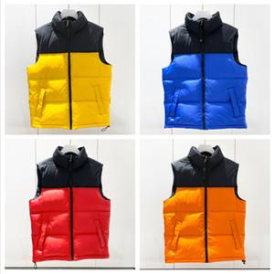 Inverno tattico Giù Vest Classic piuma Weskit Giacche Patchwork Casual Giubbotti tuta sportiva del cappotto Doudoune Vest Designer