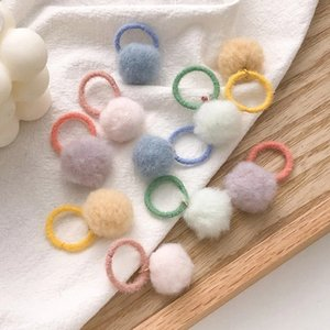 10PCS Set New Girls Cute Colorful Hair Balls Small Hair Bands Kids Ponytail Holder Scrunchie Headband Fashion Hair Accessories