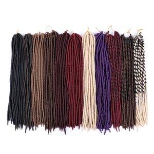 """Straight Faux Locs Crochet Cheveux 18 """"Dreadlocks Extensions de cheveux 24trands / PCS Locs Soft Locs Crochet Braids Faux Locs Braids"""