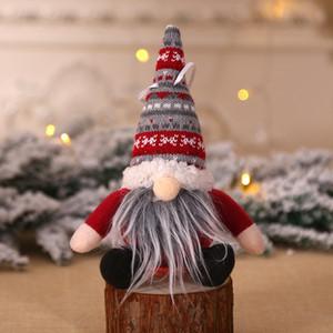 Natale ornamento a maglia peluche gnome bambola albero di Natale wall pending pendente decorazione decorazione regalo decorazioni albero AHF3235