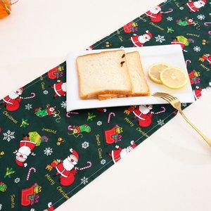 30x180cm 30x275cm Feliz Navidad Rojo Santa Claus alces Impreso mantel Mesa Larga Tabla Corredor Capacidad de Navidad Decoración de la Navidad DBC BH4353