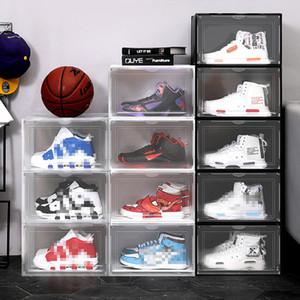 Caja de zapatos de plástico transparente a prueba de polvo a prueba de humedad a prueba de humedad, caja de zapatos de zapatos transparente, clasificación de zapatos, zapatos, organizador de zapatos VT1864