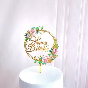 Мода торта украшения карты вставка аксессуары влюбленные акриловые цветы новые счастливые украшения свадебные поставки новое прибытие 3ZW K2