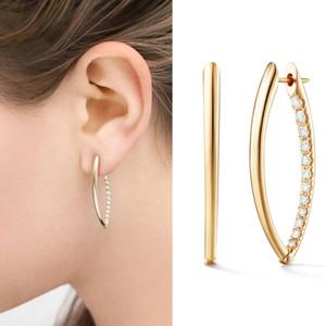 Diamond zirconia copper circular hoop earrings fashion luxury designer exaggerated stylish flower earrings jewelry for girls women gift box