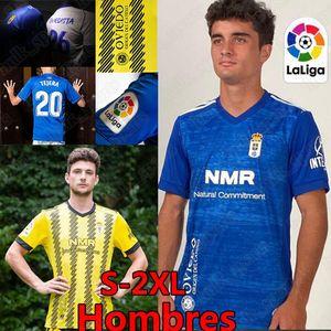 2020 2021 Real Oviedo IBRA Футбол Футбол Р.И. Фулч Ю. Bárcenas johannesson Mossa Javi Muñoz Мужские гомбры Удобные Домашнее Голубое футбольные рубашки