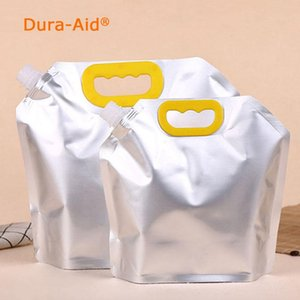 Doypack 1500ml-10L Empty Doypack Pure Aluminum Foil Spout Bag Drinking Milk Stand Up Spout Mylar Party Pack Pouch Jelly